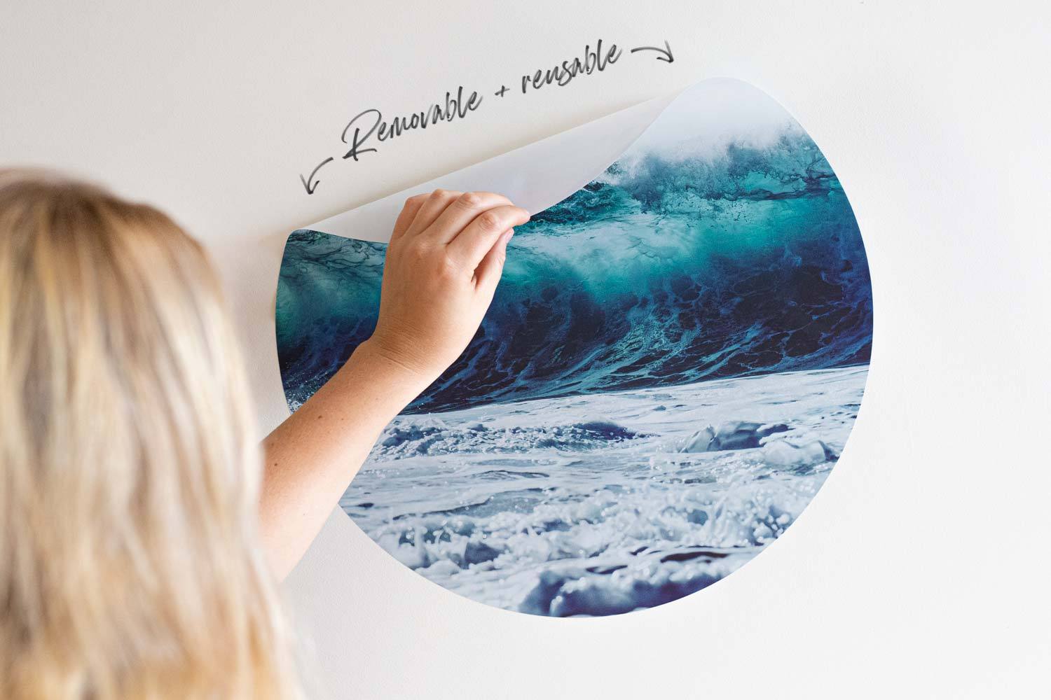 Ocean Wall Decals - Easy to install, circle wall decals by Ryan Pernofski.