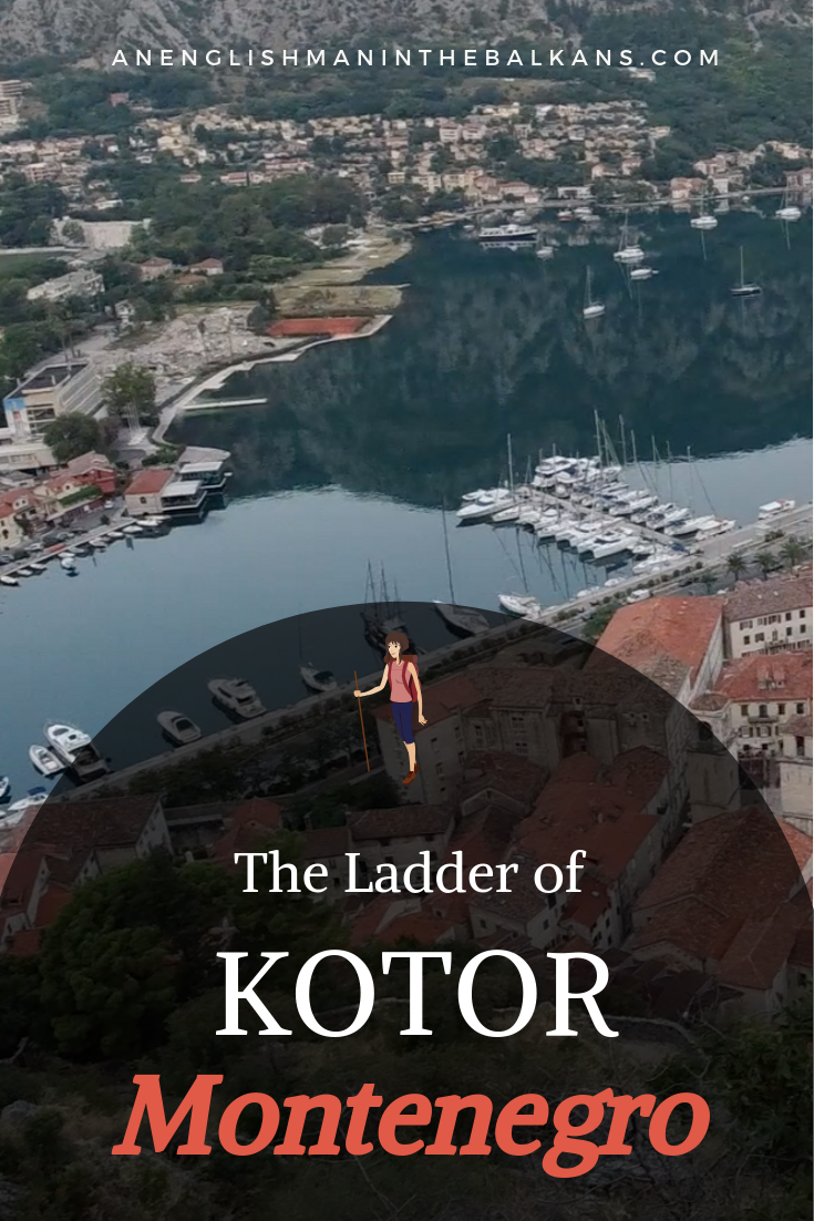 """It's 1350 steps to climb """"The Ladder of Kotor"""", and to reach the top of  San Giovanni , the ruined castle built overlooking the Bay of Kotor."""