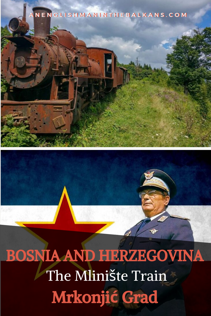 I have driven past this rusting train for decades and have always wondered about it. Apparently, it was used by Tito and his partisans in World War 2, and was left here in 1944.