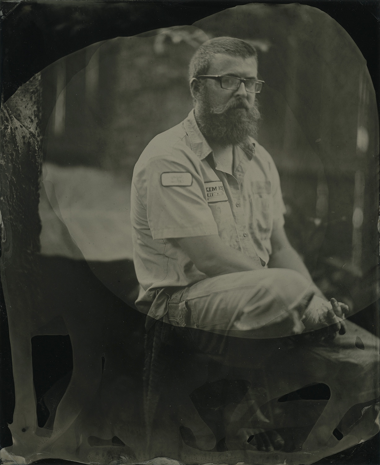My beautiful partner Lisa took this. Her very first tintype.