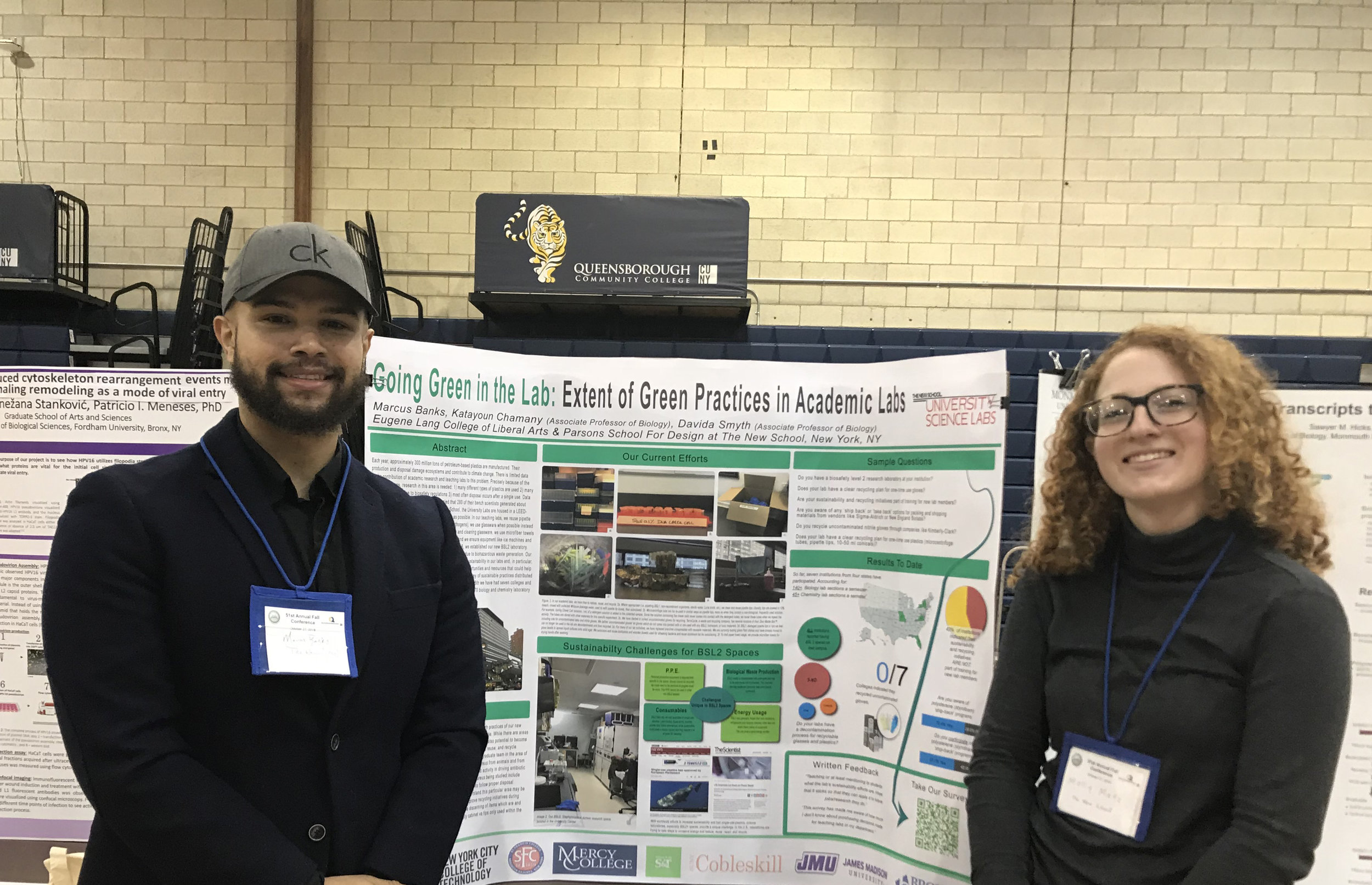 Marcus Banks, Lab Manager, and Molly Metz, Interdisciplinary Science Student.