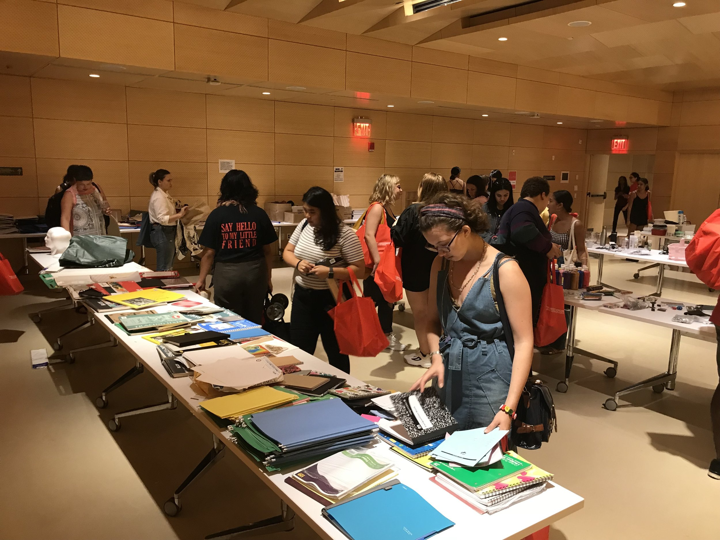 Good as New - Good As New is a reuse and waste reduction initiative that encourages all New School students to donate reusable school supplies and materials at the end of each semester so that these items stay out of landfills, and can be used by other students in the future.