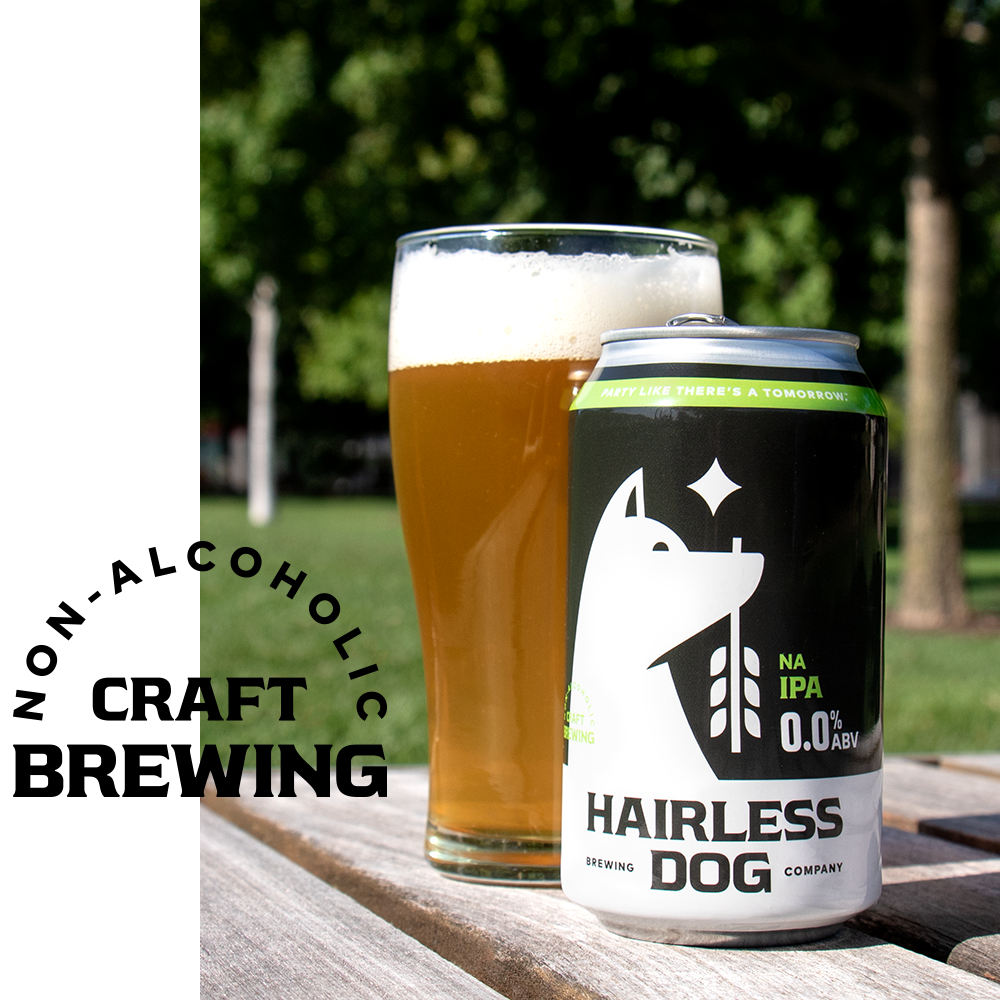 100% craft. 0.0% regrets. - Our goal wasn't just to create a delicious NA beer. We set our sights on raising the bar of NA altogether. Hairless Dog is the result of our relentless pursuit to craft a true non-alcoholic beer that sacrifices the hard stuff without sacrificing the taste.