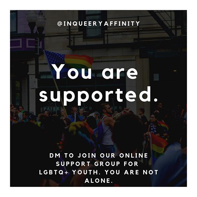 If you are LGBTQ+ youth, DM this account to gain access to our online support group with meetings that will be happening weekly 🏳️‍🌈💛