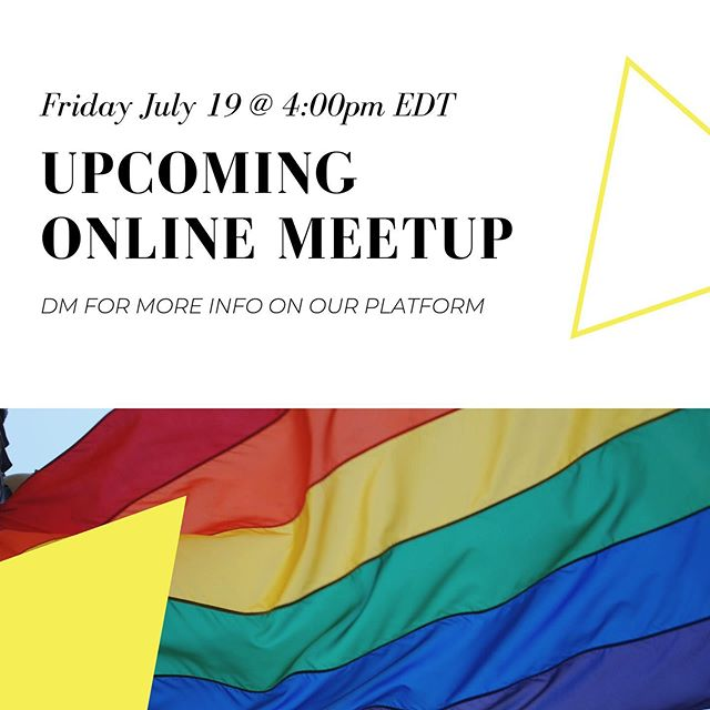 Upcoming online meetup tomorrow! DM for more info!