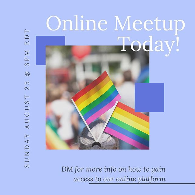 Upcoming Online Meetup today at 3pm EDT! Direct message us for details 💚💛💙