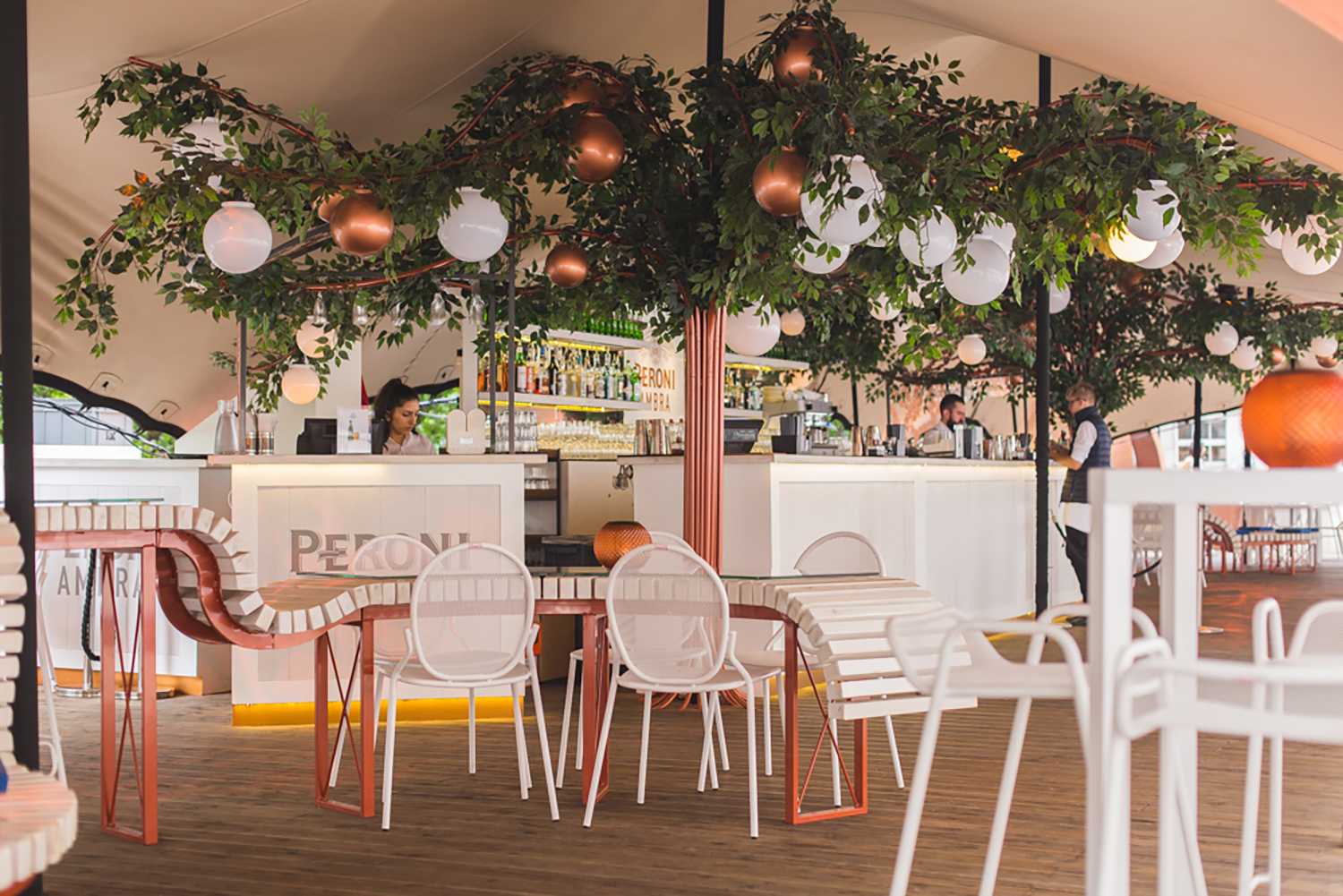Inside Somerset House London Peroni takeover