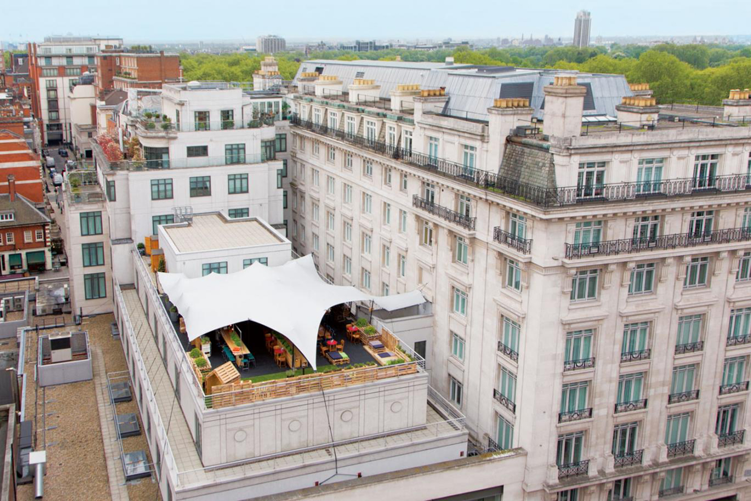 Rooftop at the Marriot Hotel central London