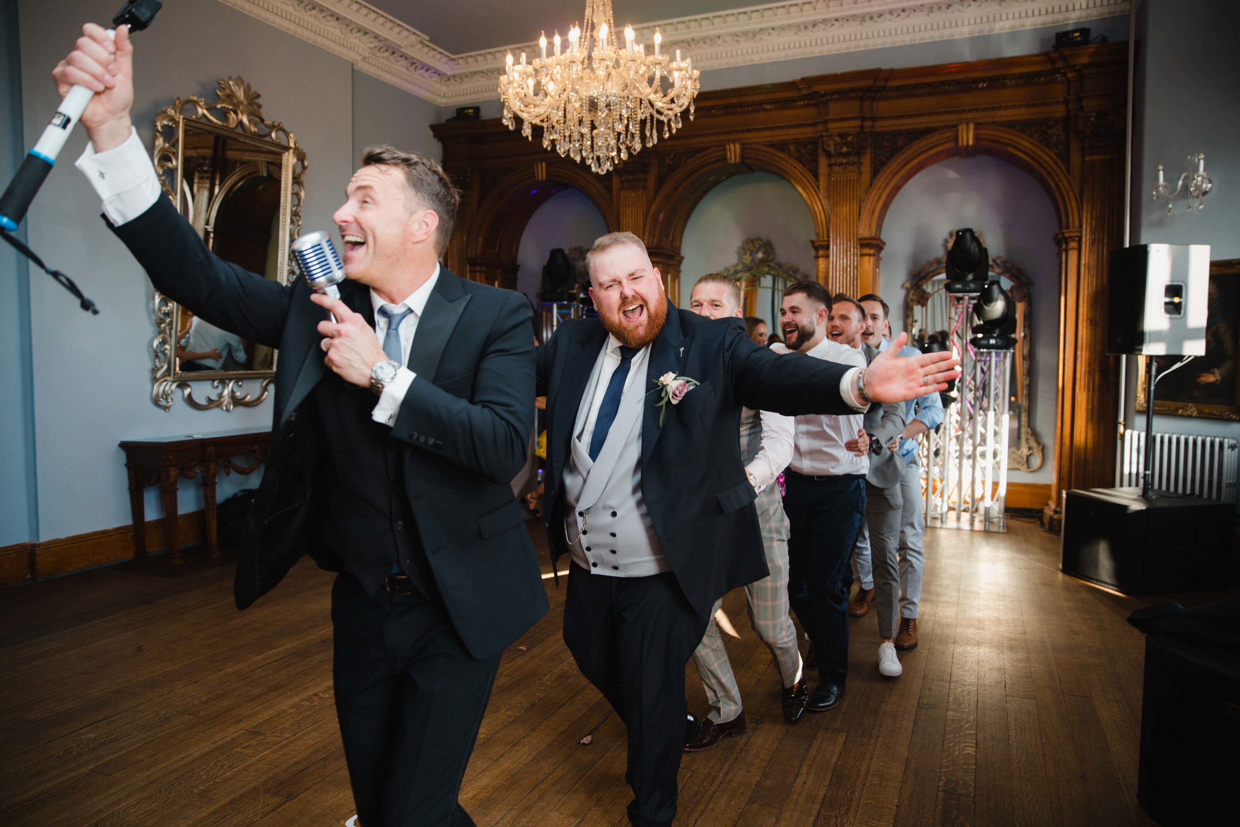 groom taking part in dancing at haigh hall