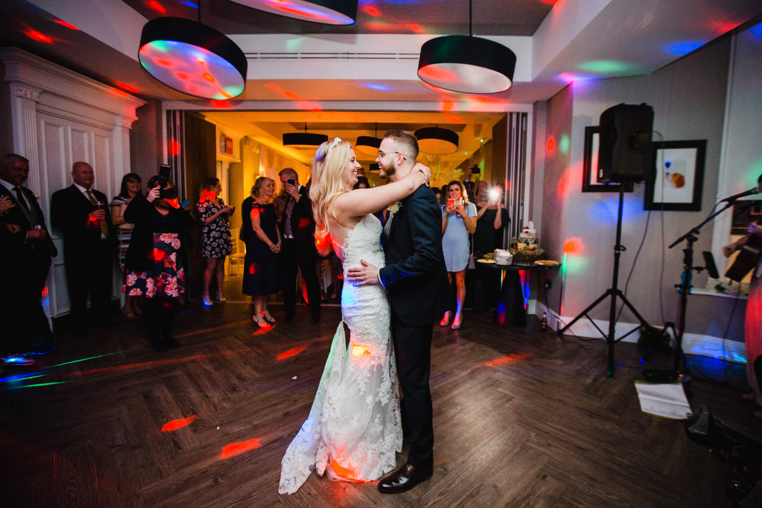 first dance of bride and groom at oddfellows on the park