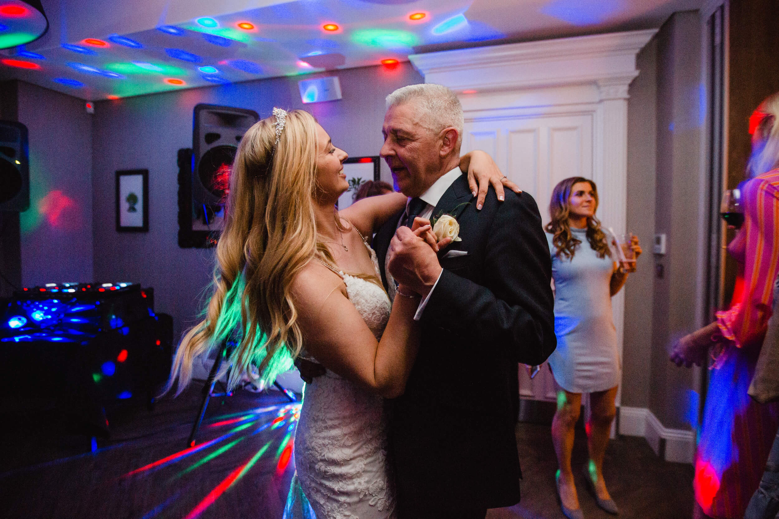 father of bride dancing with daughter after first dance at oddfellows on the park
