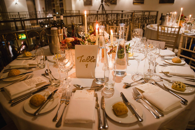 wedding breakfast table layout