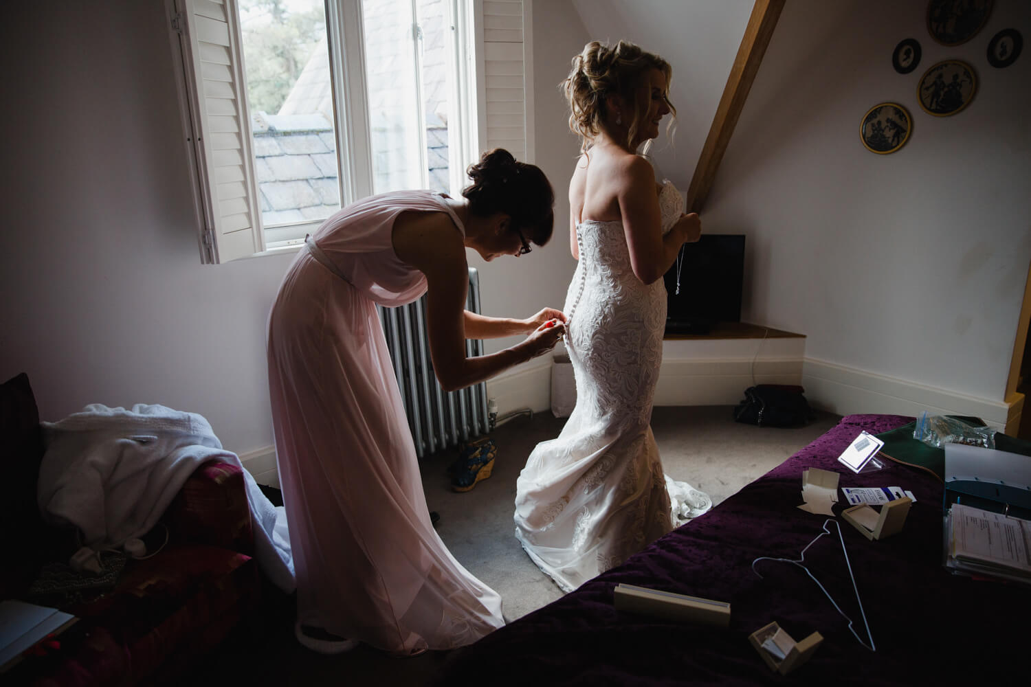 bride rehearsing wedding nuptials before ceremony at didsbury house