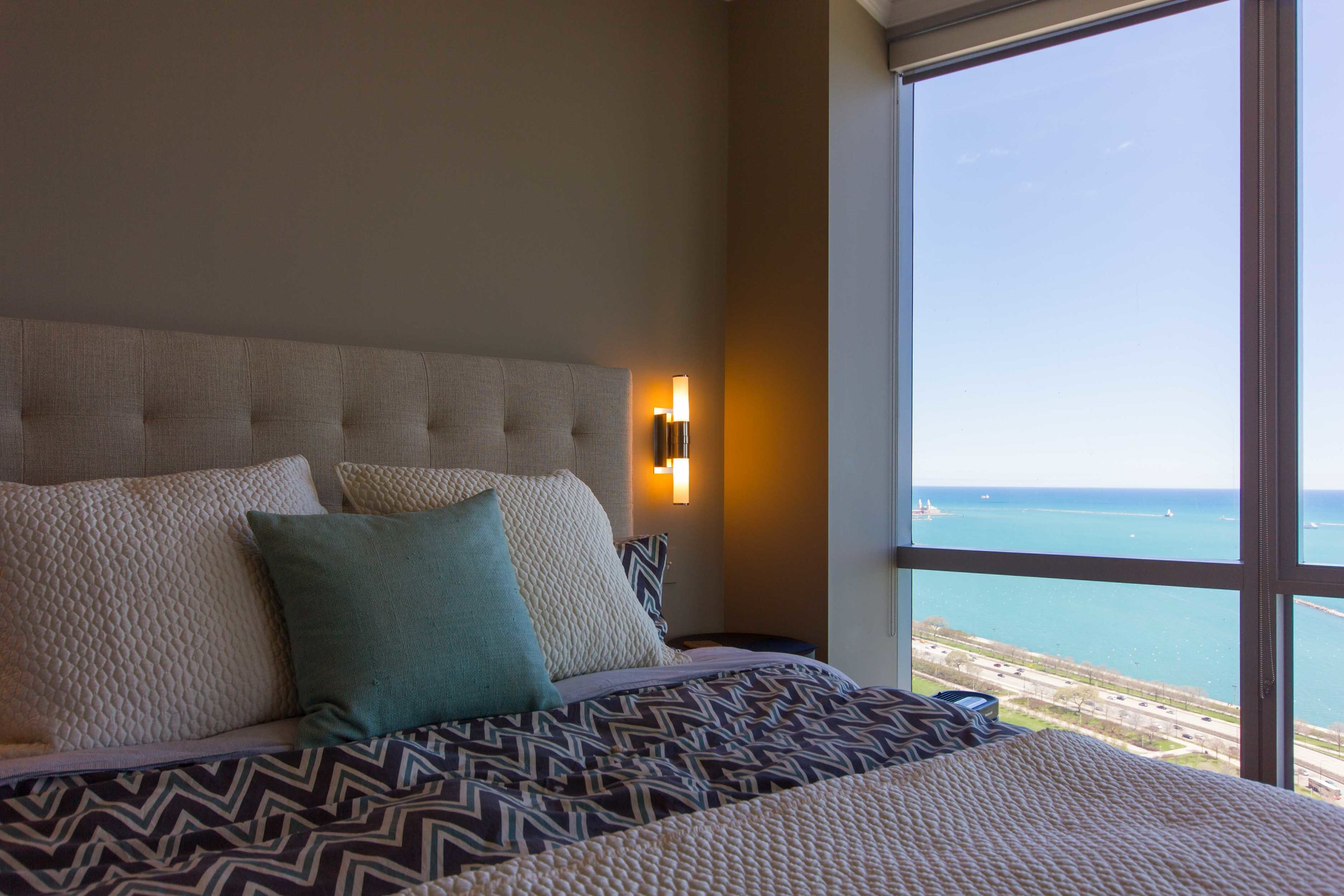 Modern Chicago Master Bedroom Design Inside