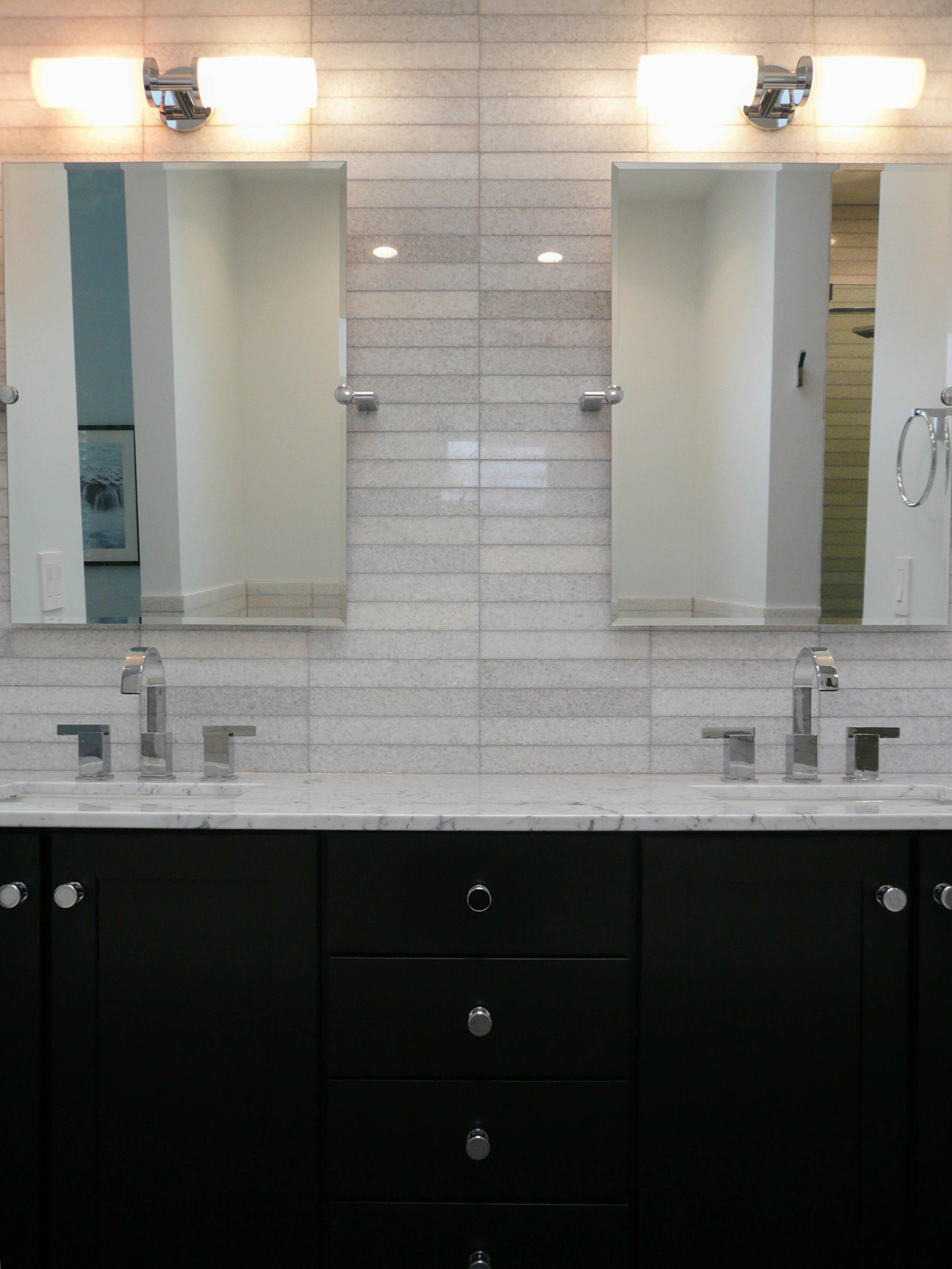 Modern Roscoe Village Master Bathroom Design Inside