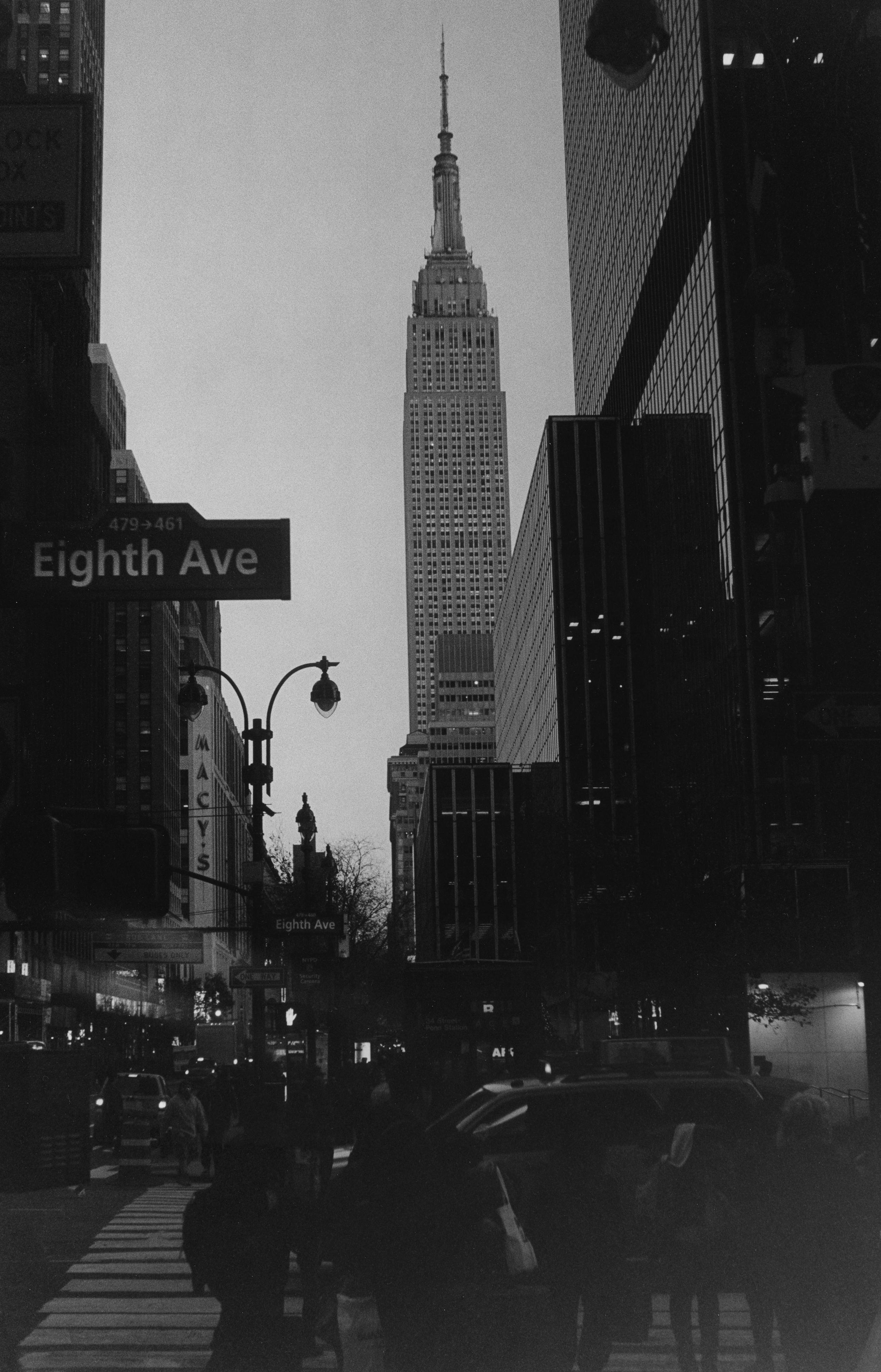 Eighth Avenue at Dusk