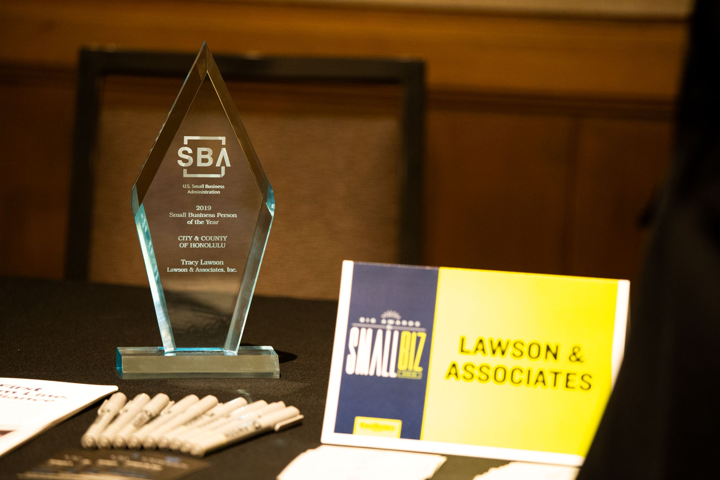 "- ""Thank you to 721, our marketing and communications firm. Without you, this SBA Small Business Person of the year award would not have been possible.""-Tracy Lawson, President & Founder of Lawson & Associates, Inc."