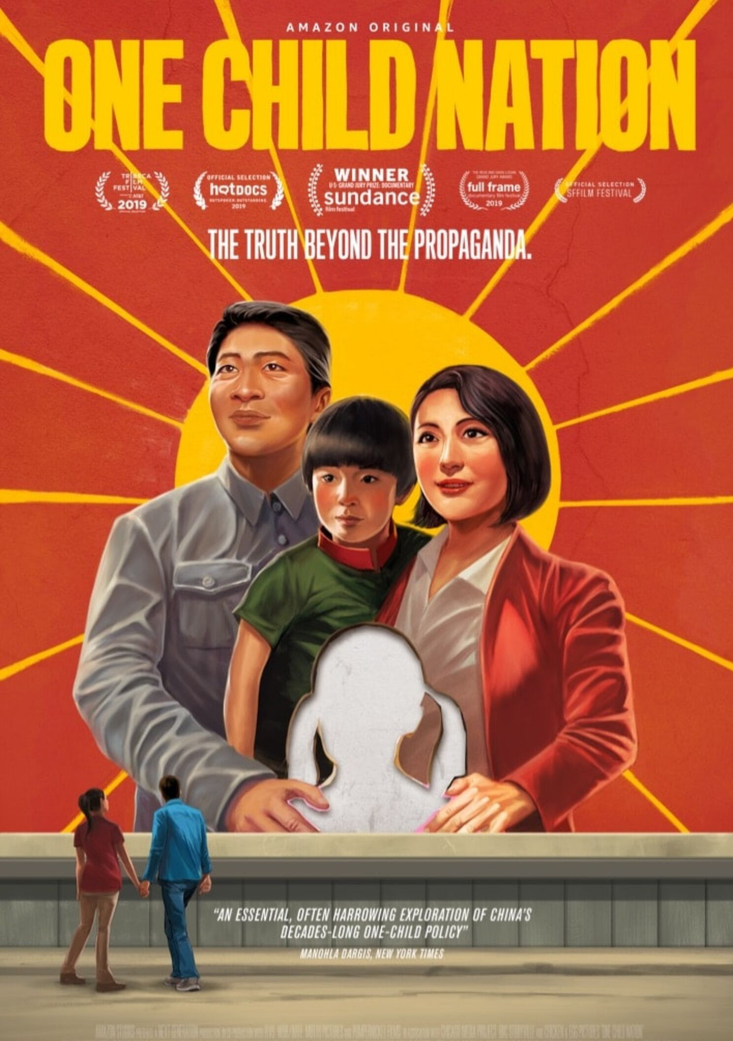 one child nation - OVERVIEW: After becoming a mother, a filmmaker uncovers the untold history of China's one-child policy and the generations of parents and children forever shaped by this social experiment.FILMMAKERS: A film by Nanfu Wang and Jialing Zhang. Wang's credits include Hooligan Sparrow, which premiered at the Sundance Film Festival, and I Am Another You, which premiered at SXSW. Zhang's credits include Complicit.WINNER: Sundance Film FestivalPRESS: The New Yorker, The New York Times, NPR, The Atlantic, The Washington Post