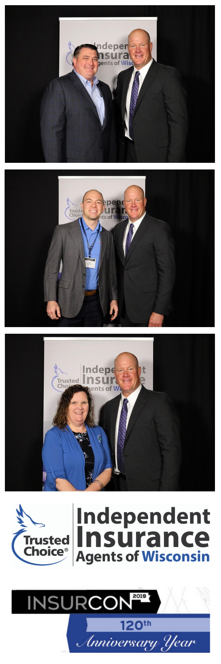 2 x 6 strip for a Meet & Greet with famed MLB Pitcher Jim Abbott at the InsurCon 2019 Annual Conference for the Independent Insurance Agents of Wisconsin. Looking for a photobooth for your conference or fundraising gala? This is a great way to add on fundraising opportunities.