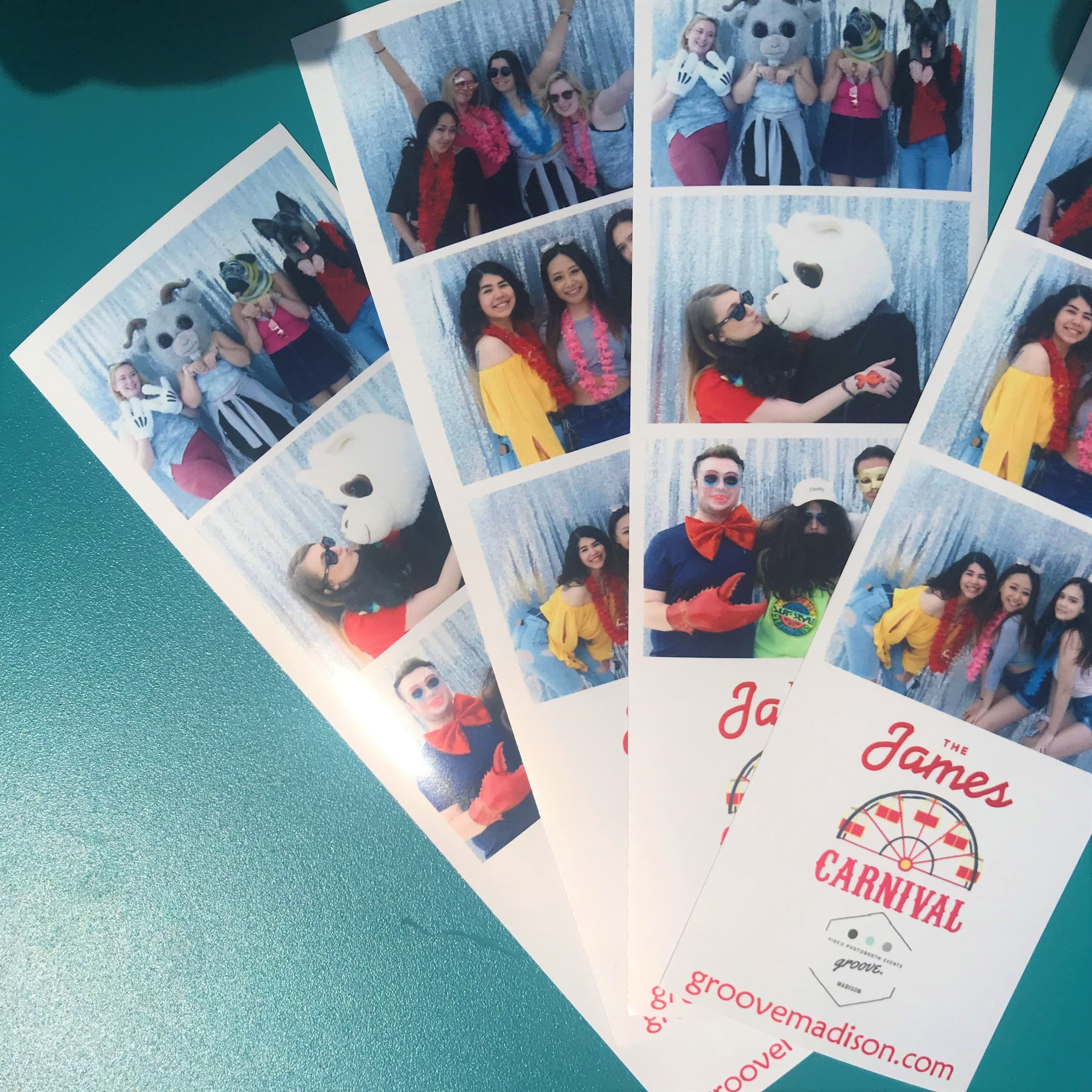 Photo strips from our photobooth! This was on location at a rooftop party!