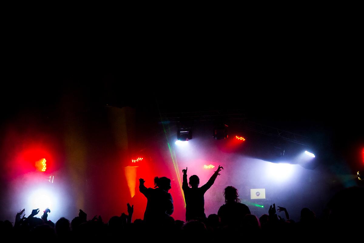 Crowd shot a t Nozstock festival