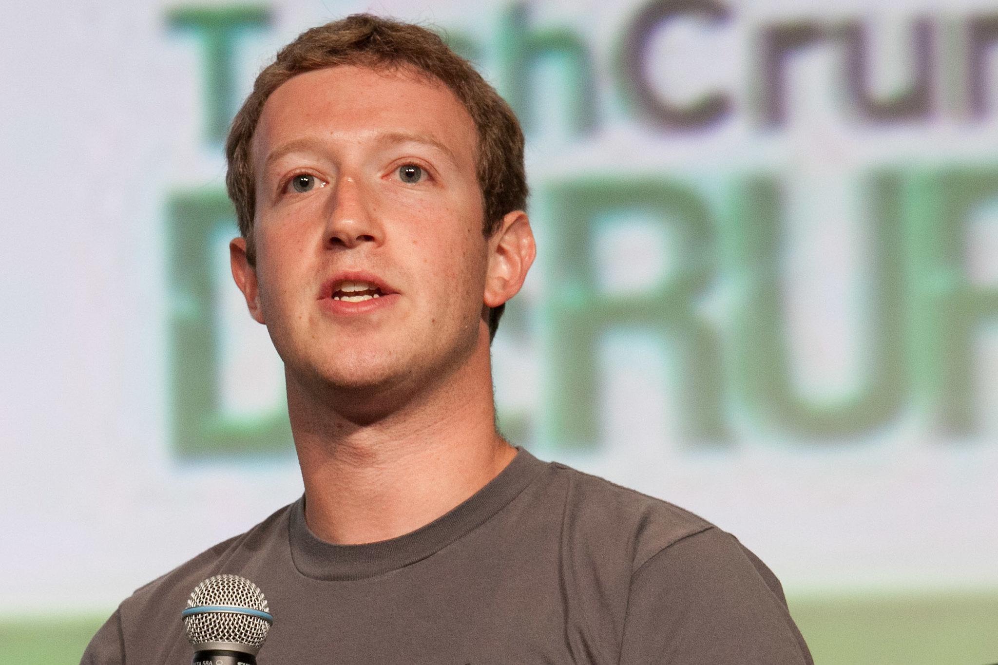 Facebook CEO Mark Zuckerberg -