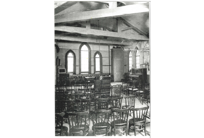 Wycliffe College classroom inside of the School House.
