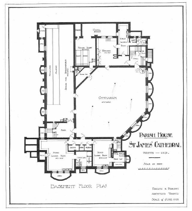 Parish House, Basement Floor