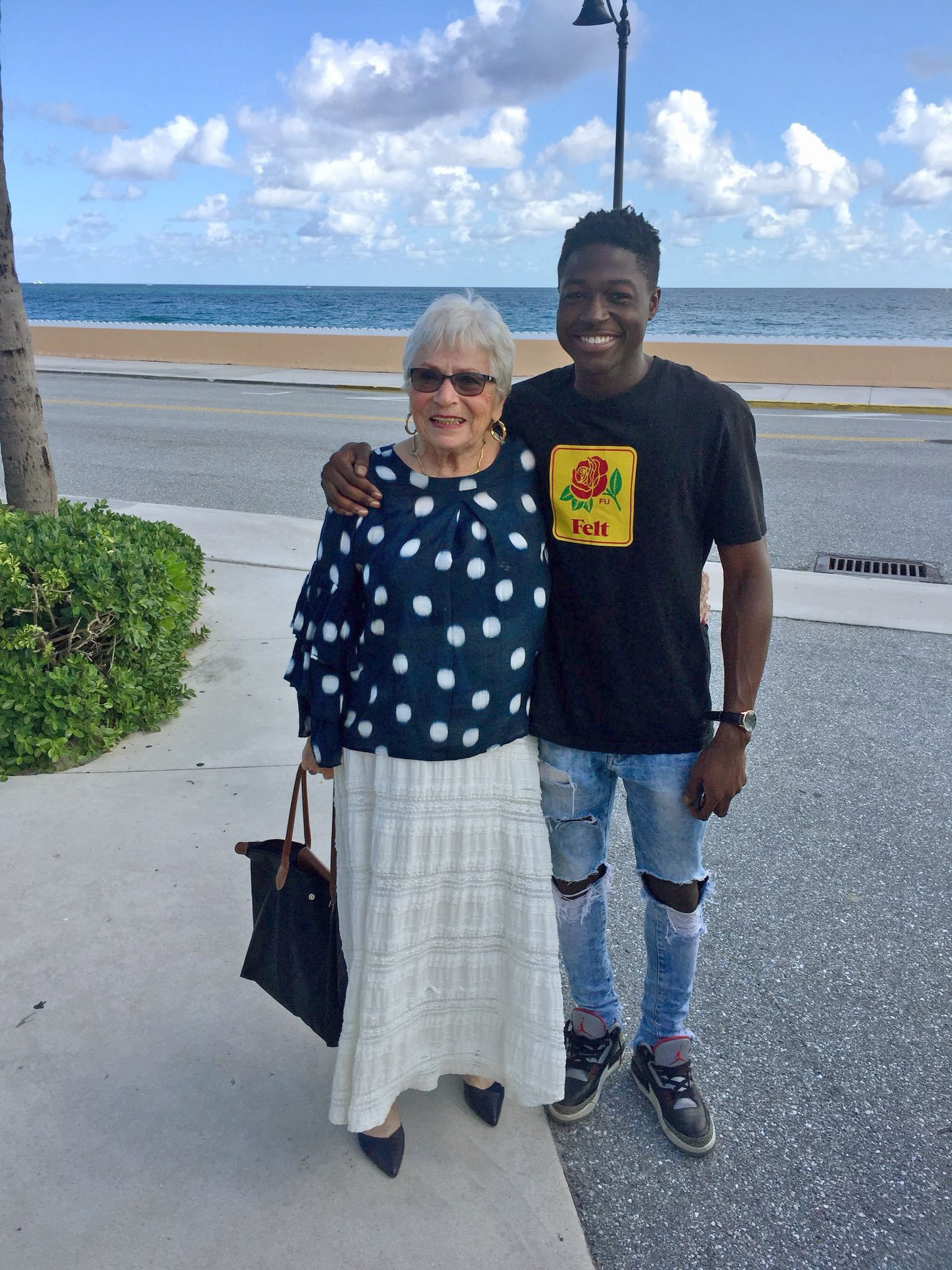 The pair didn't have much time — just a lunch and a quick tour of Palm Beach. (Photo Rev. Amy Butler)