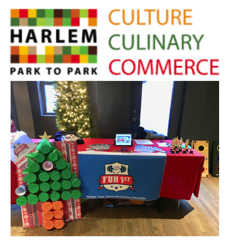 """Join us at """"Harlem Park to Park"""" for Free Holiday Fitness Classes Dec 8, 2018"""