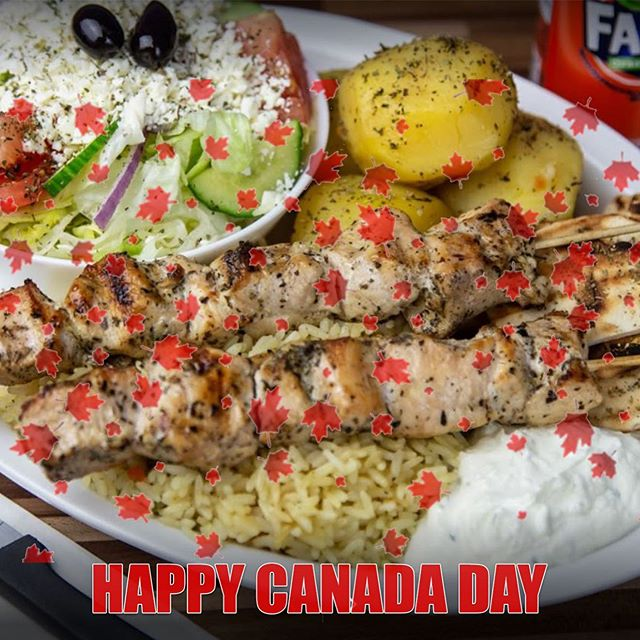 Come down and enjoy a souvlaki dinner !! Happy Canada Day !!!