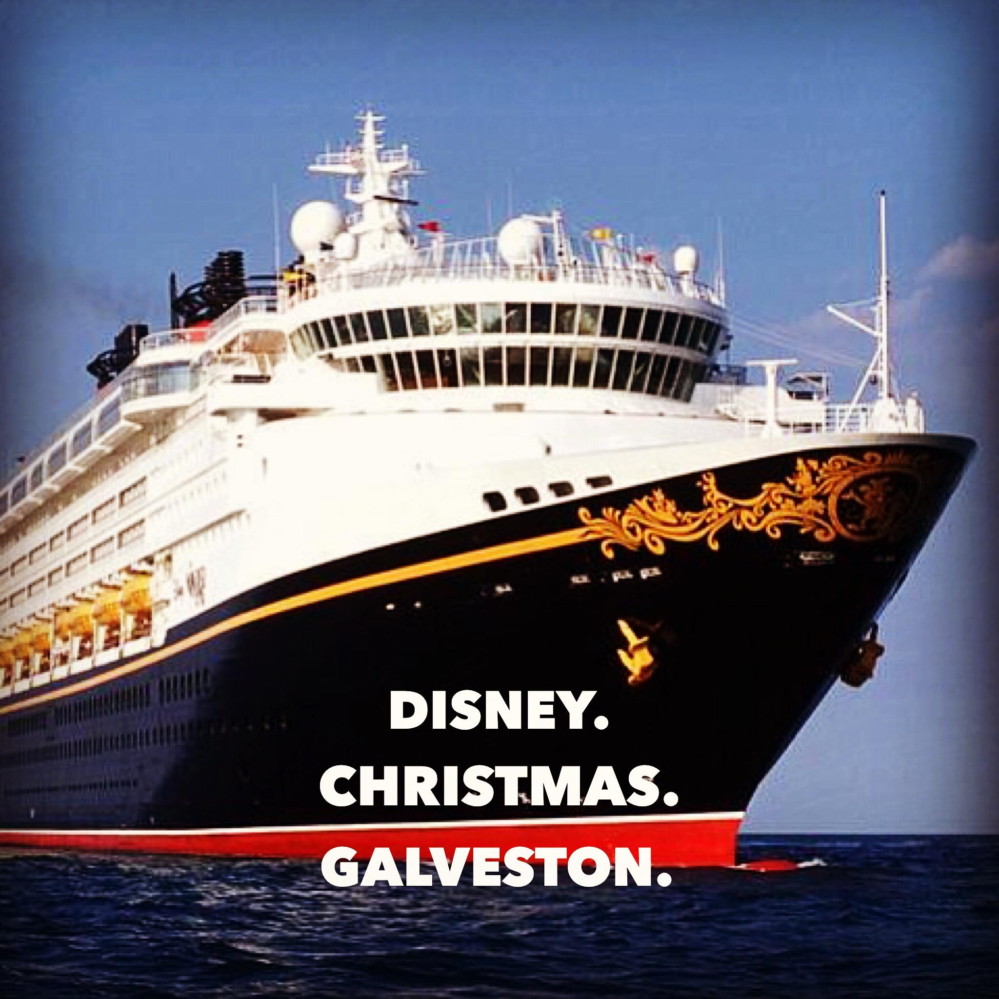 Disney sails out of Galveston, TX during the Christmas Holiday season. Texans flock to the port to enjoy the seasonal delight.