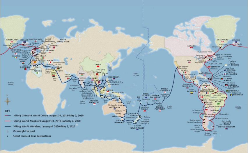 245-Days Viking Ultimate World Cruise