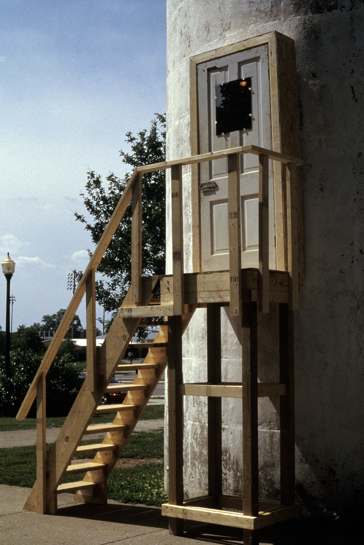 Untitled (Staircase)  / 2003 / Wood, mirrors, light / 16' x 8' x 3'