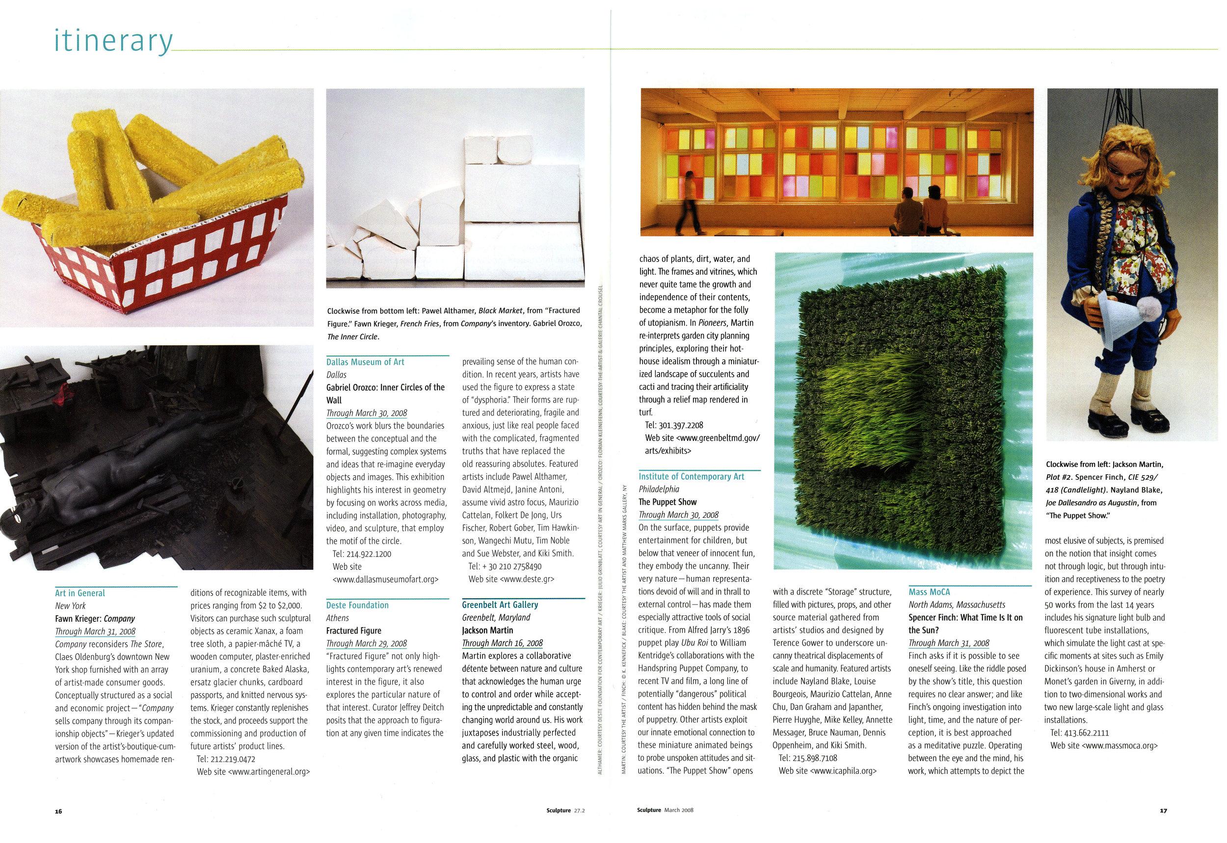 Sculpture Magazine - March 2008
