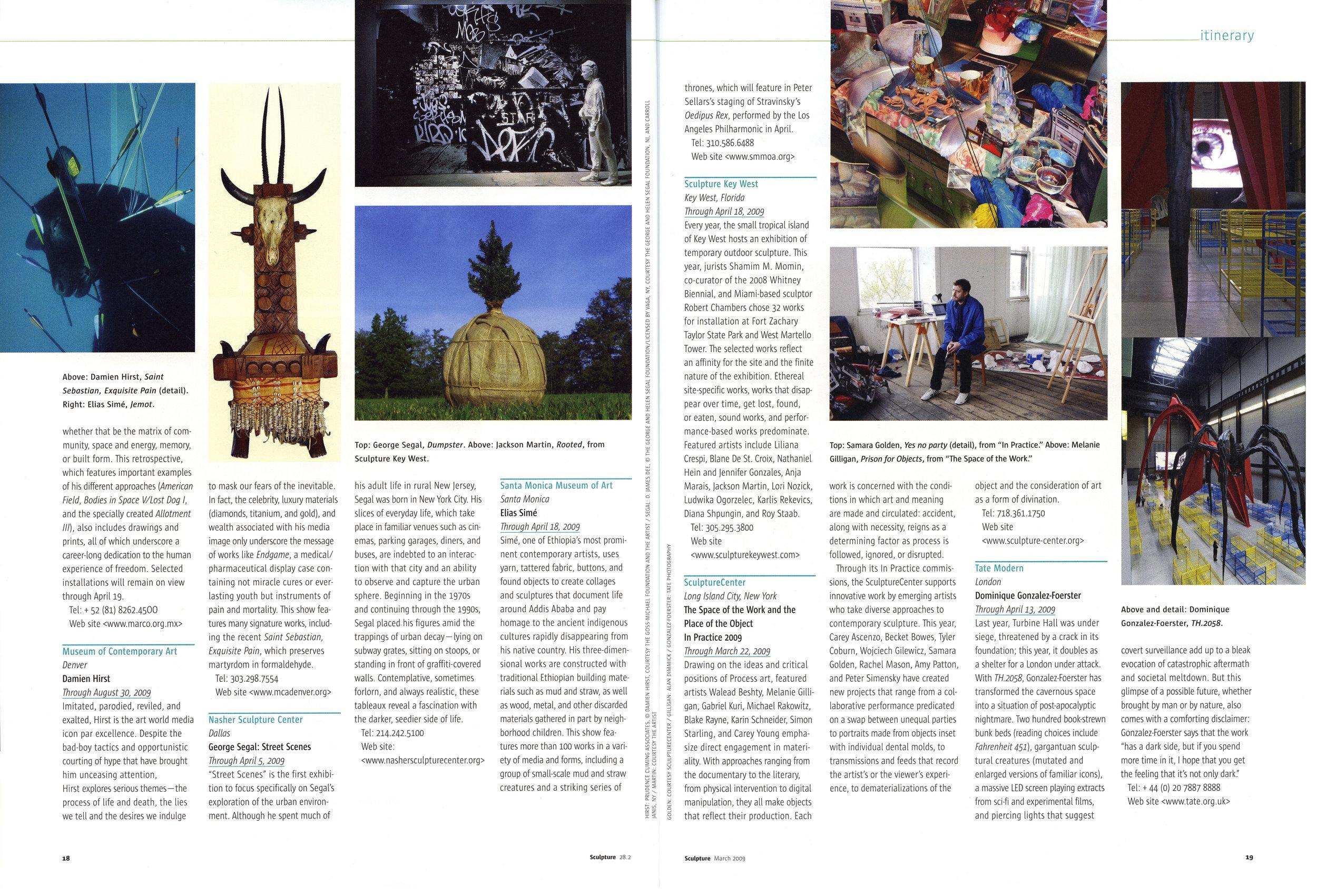 Sculpture Magazine - March 2009