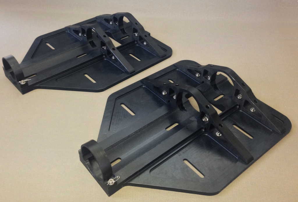 Snow Shoes   Flight Structures' snow shoes distribute the skid weight for landing on soft terrain. Manufactured from wear resistant polymer they are proving to be a long lasting and cost effective solution.