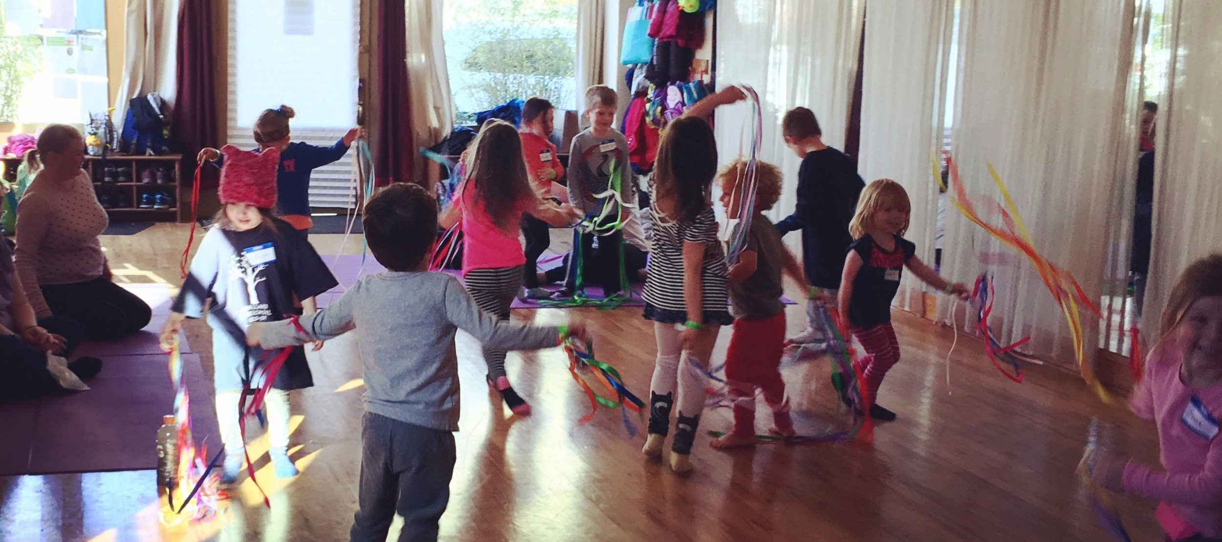 """""""Our preschool group thoroughly enjoyed Kate's class. It was a great experience for them to go to the studio and learn about how they can work to calm their minds and bodies. The adults learned a few things too!"""""""