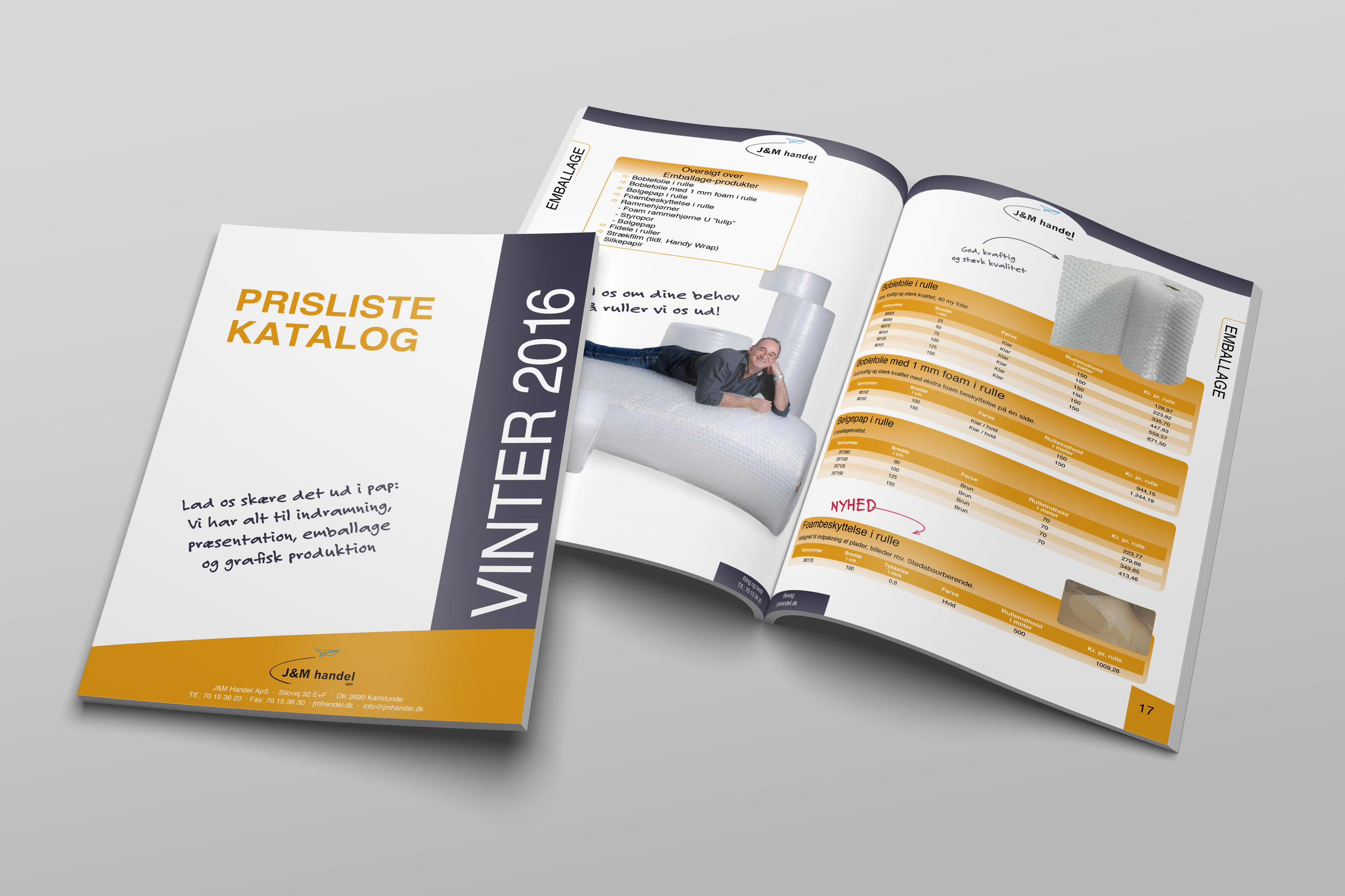 68-siders prislistekatalog for J&M HANDEL
