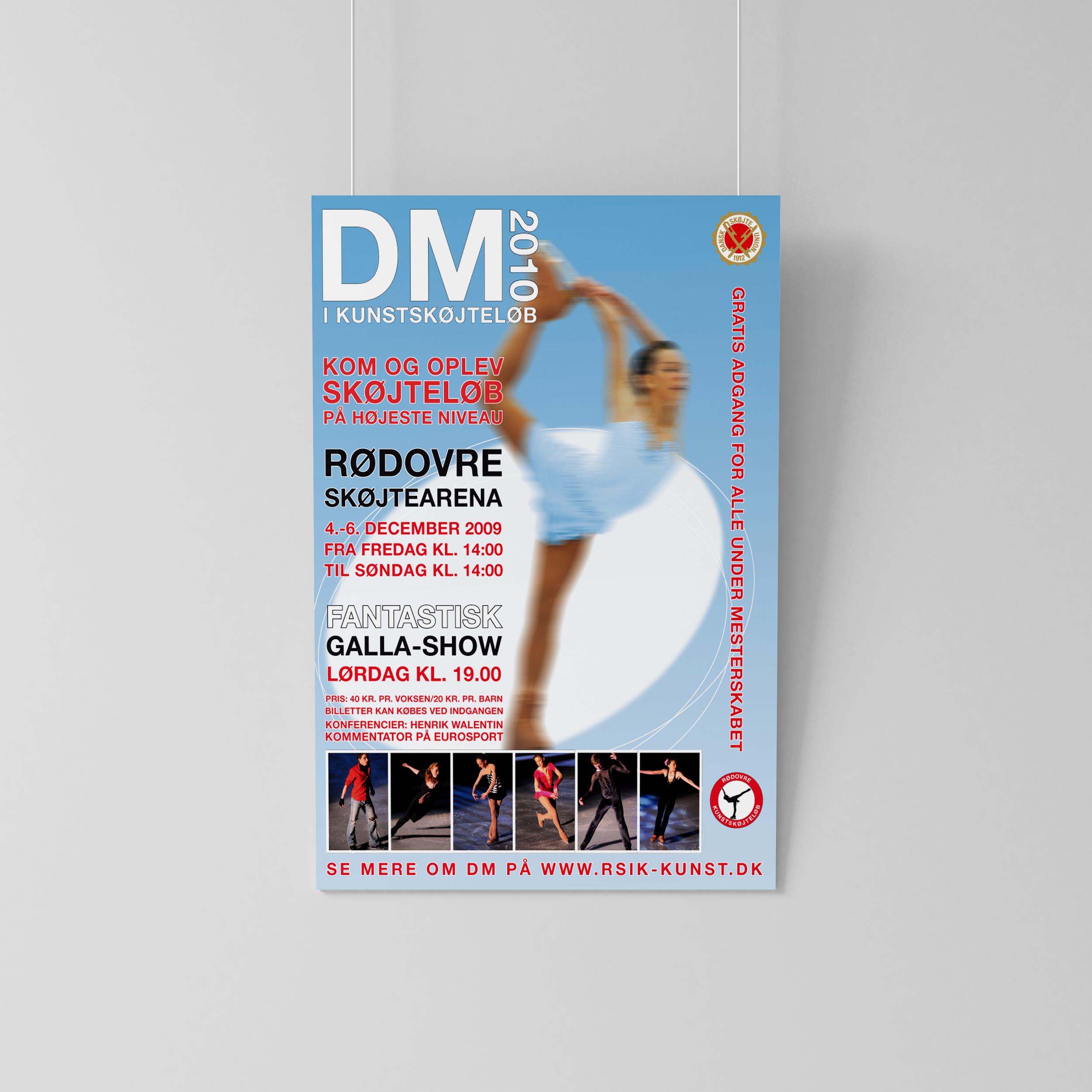 Plakat til DM i kunstskøjteløb