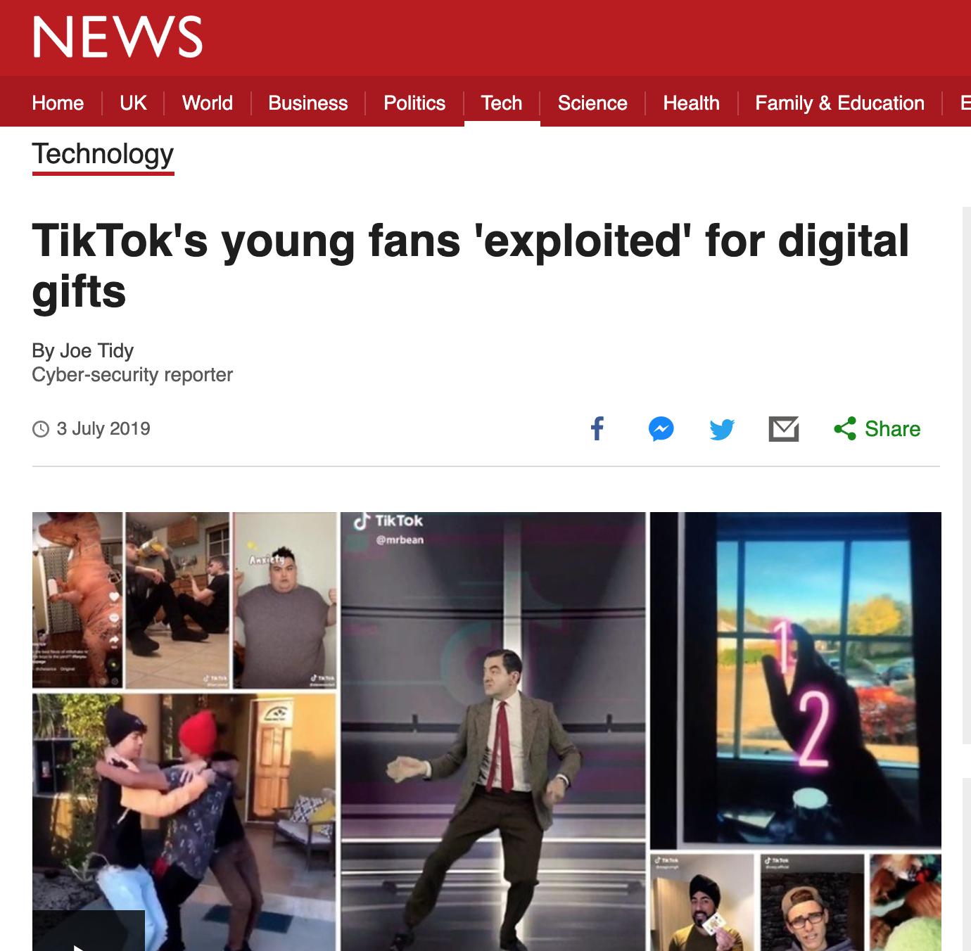 Recent TikTok scandal -