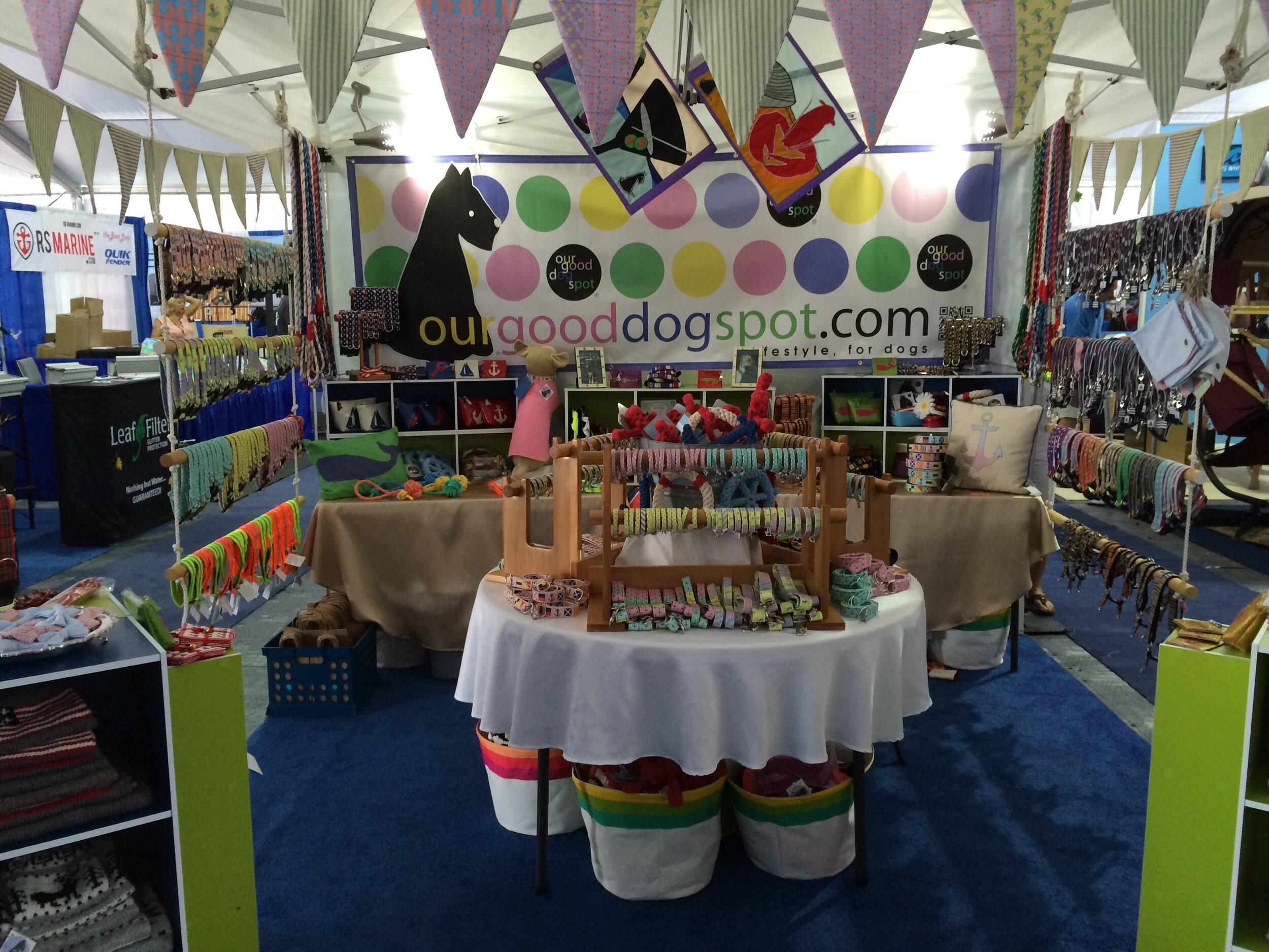 Our Good Dog Spot at the Newport International Boat Show.jpg