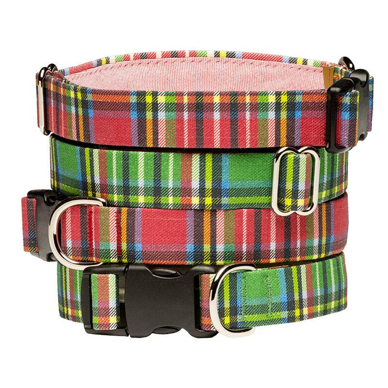 Holiday Tartan Dog Collar Stack.jpg