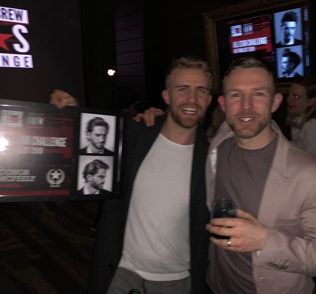 Great night last night at the @americancrewuk awards, @mcfeely22 made the top 10 in the UK, #barbering #barbershop #awards #barberlife #barbergang