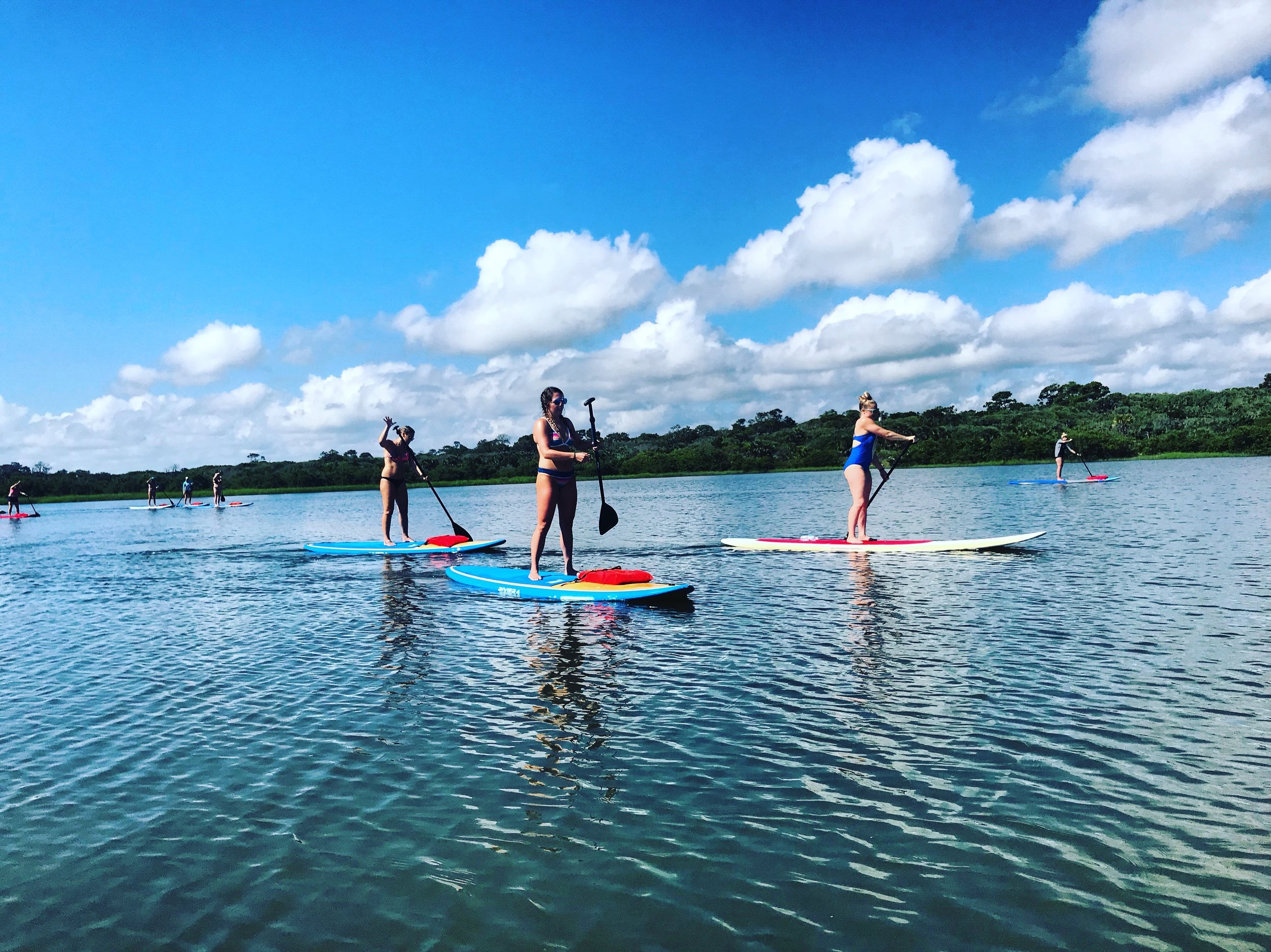 TRIPS INCLUDE - -90 minutes of fun-dry land lessons-board & paddle-life jacket-tons of fun!