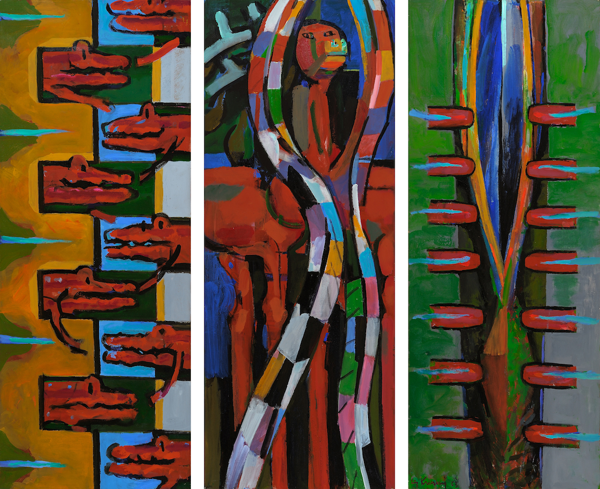 Always There , 1963, oil on canvas (triptych), overall: 56 x 66 3/4 in. (142.2 x 169.5 cm)