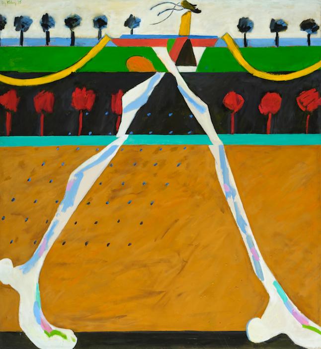 Sitting-Bull Walker , 1975, oil on canvas, 66 x 61 in. (167.6 x 154.9 cm)