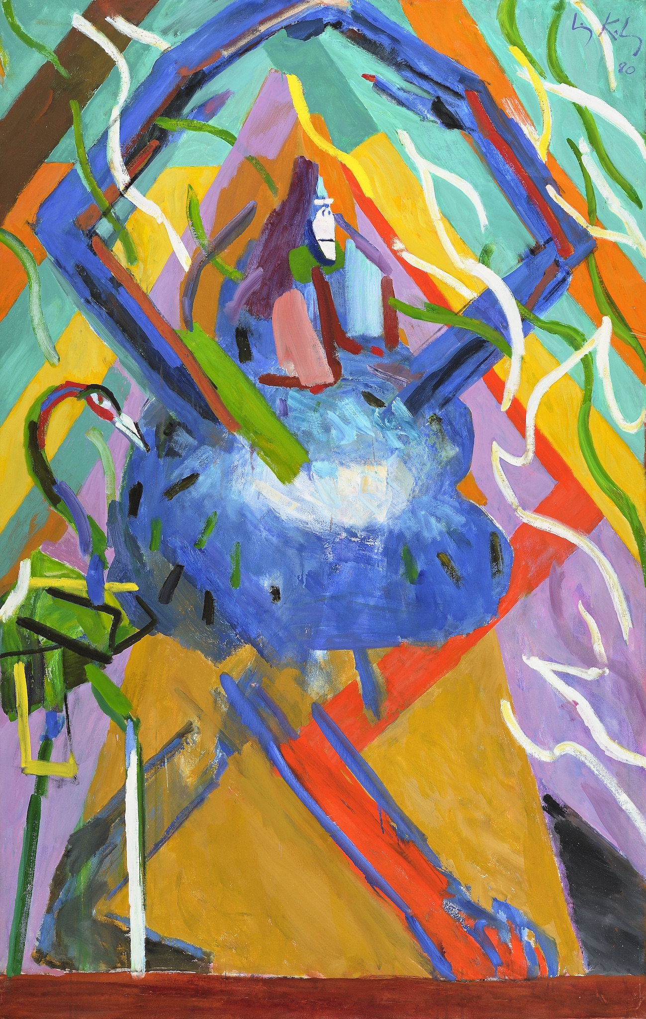 Down From the Mountain , 1980, oil on canvas, 68 x 43 1/2 in. (172.7 x 110.5 cm)