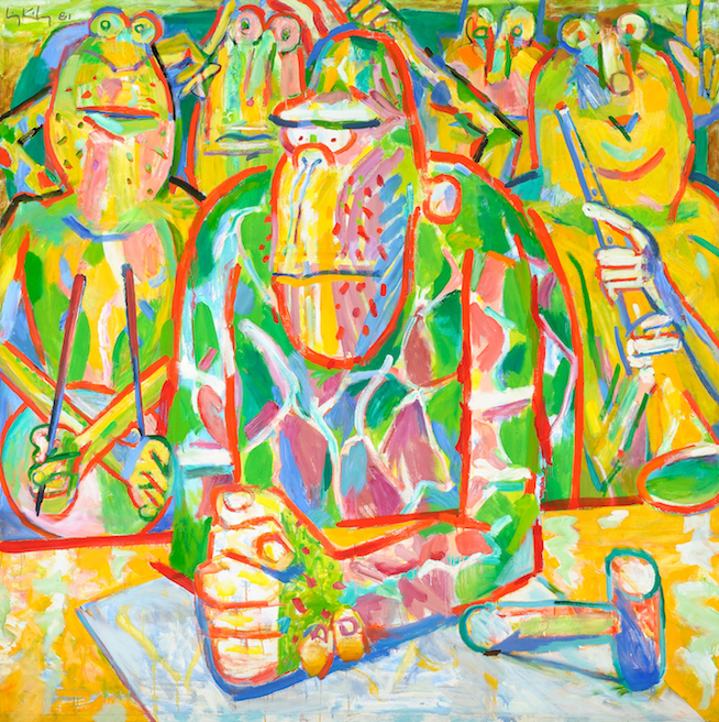 Foursquare , 1981, oil on canvas, 79 1/2 x 79 in. (201.9 x 200.7 cm)