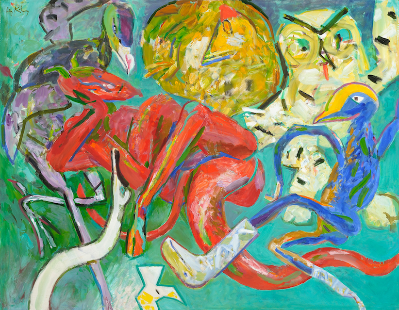 Dance of the Beginning , 1984, oil on canvas, 58 5/8 x 74 3/4 in. (148.9 x 189.9 cm)